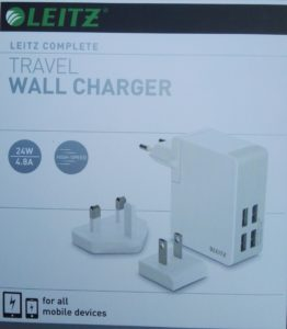 Leitz Travel Wall Charger verpakking